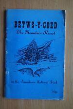 BETWS Y COED Mountain Resort Snowdonia National Park PB 1973 Photographs History