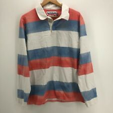 New listing Chubbies Long Sleeve Polo Shirt Men's 2XL Multicolor Striped Rugby Button