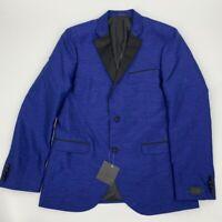 NEW 14th Union mens jacket blazer blue Sz 42 L Polyester z 519