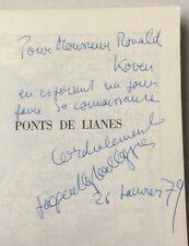 ENVOI dédicace Jacques RAPHAEL-LEYGUES : PONTS DE LIANES Missions en INDOCHINE