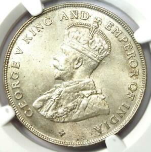 1920 Straits Settlements Dollar $1 - NGC MS63 - Rare BU UNC Certified Coin