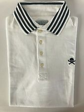 "VIVIENNE WESTWOOD VW ""MAN"" Short Sleeved White Cotton Polo Shirt - XXL / 2XL"