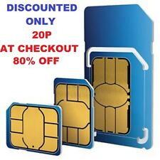 O2 SIM CARD PAY AS YOU GO STANDARD & MICRO & NANO new tariff