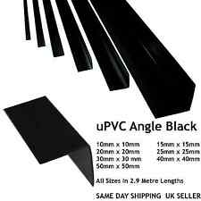 BLACK PLASTIC PVC CORNER 90 DEGREE ANGLE TRIM ALL SIZES 10,15,20,25,30,40,50mm