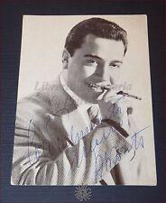 MARIO ABBATE Fotocartolina d'epoca con Autografo Ritratto con Catalogo Dischi