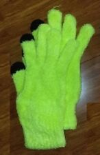 New Justice Girls Texting gloves Yellow & Black Very Soft fuzzy yarn One Pair