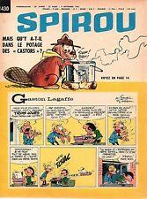 ▬► Spirou Hebdo - n°1430 du 9 Septembre 1965 - SANS mini-récit TBE