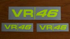 Valentino Rossi  3 Sticker decal Fluorescent Yellow  VR46 season 2018 - 2019