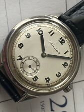 Vintage Movado Wristwatch Looks and Runs Great New Leather Strap Automatic