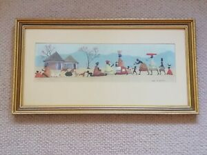 Original Gouache On Board Painting By Lucy M. Mullins 1950s South African Art