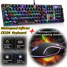 Motospeed Gaming Keyboard mouse Combo Mechanical CK104 V30 Wired RGB Backlit