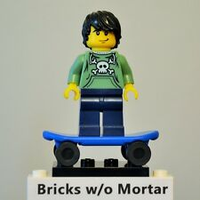 New Genuine LEGO Skater Minifig with Skateboard Series 1 8683