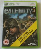 XBOX 360 Game Call of Duty 3 PAL - Disc/Manual - Worldwide Shipping