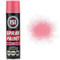 9 x 250ml 151 Pink Gloss Aerosol Paint Spray Cars Wood Metal Walls Graffiti