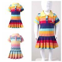Kids Girls Summer Dress Short Sleeves Korean Style Princess Skirts Casual Dress