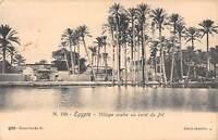uk33388 village arabe au bord du nil egypte real photo  egypt