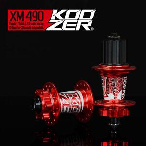 KOOZER MTB disc brake Front/Rear hub XM490 CNC Aluminum for Shimano Sram 8-11s