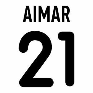 Aimar 21. Valencia Home football shirt 2000 - 2001 FLEX NAMESET NAME SET PRINT