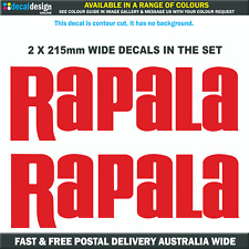 Rapala Decals x2 21cm Vinyl sticker suits boat fishing tacklebox tinnie #R003