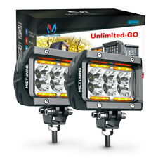 """MICTUNING Pair CREE Led Pods 4"""" 18W Flood Beam LED Light Bar 1620lm OffRoad Lamp"""