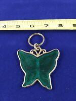 Vintage Green Butterfly Keychain Key Chain Fob Key Ring *QQ10