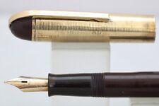 More details for vintage (c1940) eversharp skyline burgundy fountain pen, gt