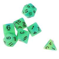 7pcs/set Luminous Dice D4-D20 Polyhedral Dice for DND RPG MTG Board Games #1