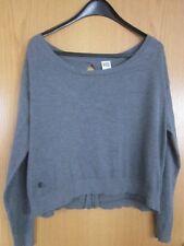 VERO MODA Damen Pullover Gr. M grau Feinstrick cropped Kastenfom schöner  Rücken 3fd23c9596