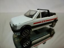 MAJORETTE 281 PEUGEOT 205 GTI CABRIOLET - WHITE 1:53 - GOOD CONDITION