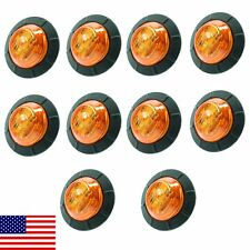 "10X Amber 1-1/4"" 1.25"" Side Light 6 LED Marker Waterproof Lamp Trailer US Stock"