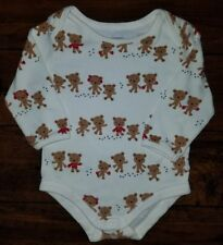 GYMBOREE Winter Bears Long Sleeve Bodysuit Size 6-12 Months Holiday