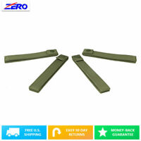 "Green 6"" Thumb Snap Straps 4 Pack MOLLE PALS Webbing Nylon Internal Stiffner"