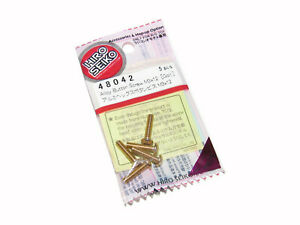 Hiro Seiko 48042 AE B6.1 B64 T6.1 3 x 12mm GOLD Aluminum Button Head Screws