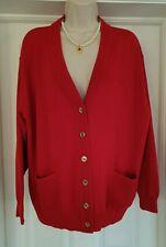 LUCIA V/neck Wool Blend Cardigan Size 22 VGC