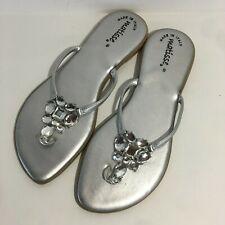 d9d88c8b3dbbea Matisse Women s Silver Rhinestones Slip On Thong Sandals Size 39 ...