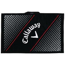"""Callaway Cotton Tour Performance Large Golf Bag Cart Towel 20"""" x 30"""" New Black"""