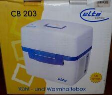 Camping Auto Kühlbox Elta CB203 Kühlschrank Warmhaltebox 18L 12Volt 54W Grau Bla