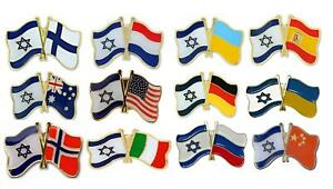 Mix Country Friendship Flags with Israel pretty Lapel badges PIN patriot gift