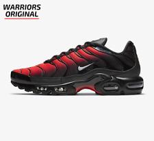 Nike Air Max Plus Negro Gris Lobo carmesí brillante para hombres Zapatillas Tamaños Disponibles