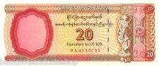 MYANMAR █ BURMA █ 20 Dollars FEC █ ND 1993 █ P-FX4 █ UNC