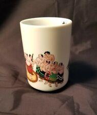 Preowned Japanese Sumo WrestlerTea Mug - No Handle Ceramic Unknown Maker