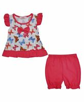 Baby Girls Dress Top and Shorts Set Toddler Outfit Butterfly Summer Casual 6-36M