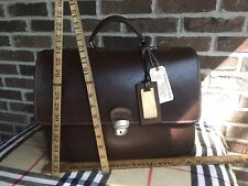 VINTAGE TRAMONTANO ITALIAN CALFSKIN LEATHER MACBOOK PRO 15 BRIEFCASE BAG R$1498