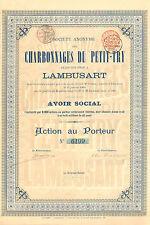 SA des Charbonnages du Petit-Try, accion, 1900 (Siege: Lambusart)