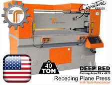 NEW!! CJRTec 40 Ton Receding Plane Press Deep Bed - Die Cutting Machine