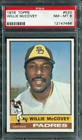 1976 Topps #520 Willie McCovey PSA 8 NM-MT