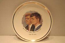 "2 Decorative Plates 9"" President John F. Kennedy Senator Robert Kennedy"