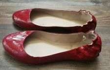MOSSIMO FAUX LEATHER Women's Ballet SHINY RED Flats Shoes SIZE 10