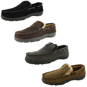 Clarks Mens Warren Moccasin Clog Slippers Comfort Indoor Outdoor Slip on Shoes
