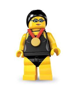 Lego minifig series 7 Swimming Champion suit castle / city sets
